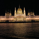 The Parliment Building in Budapest as seen during the illumination cruise during our first night aboard the AMASerena.